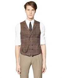 Plaid Wool Blend Vest
