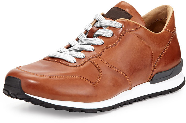 249651dd56 Tod's Runner Burnished Leather Sneaker Brown, $625   Neiman Marcus ...