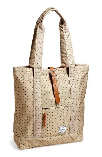 5a2e43f80a0a Brown Polka Dot Canvas Tote Bags Herschel Supply Co. Market Tote Bag Khaki  Polka Dot