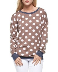 12pm by mon ami polka dots sweatshirt medium 436297