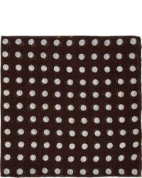 Brown Polka Dot Pocket Square
