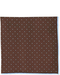 Dot print pocket square brown medium 252585