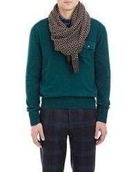 Polka dot scarf brown medium 404824