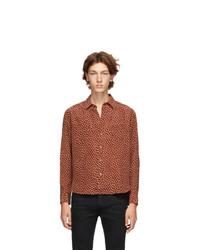 Saint Laurent Brown Silk Tomette Shirt