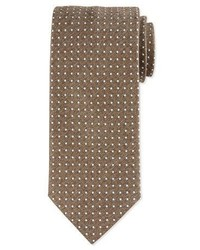 Micro dot print silk tie medium 791526