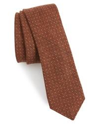 Eleventy Dot Wool Tie