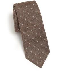 Brunello Cucinelli Dotted Cotton Tie