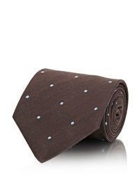 Petronius Polka Dot Necktie Brown