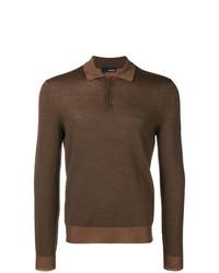 Lardini Knitted Longsleeved Polo Shirt