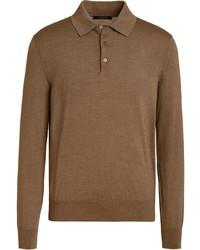 Ermenegildo Zegna Knitted Polo Shirt