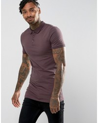 Asos Extreme Muscle Longline Polo In Jersey