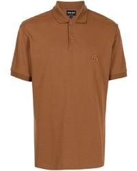 Giorgio Armani Logo Embroidered Cotton Polo Shirt