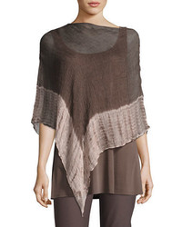 Shibori organic linen borders poncho medium 3697961