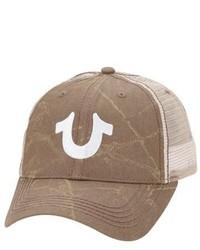 Brown Print Baseball Cap