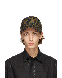 Fendi Brown And Blue Forever Cap