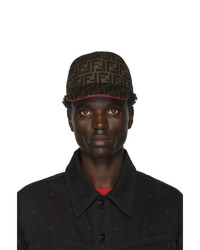 Fendi Brown And Red Forever Cap