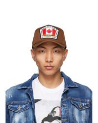 DSQUARED2 Brown Canada Patch Baseball Cap