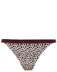 Topshop Leopard Print Sporty Tanga Bikini Bottoms
