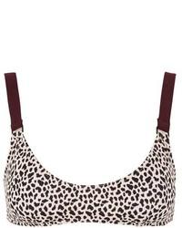 Topshop Leopard Print Sporty Bikini Crop Top