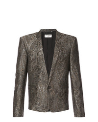 Saint Laurent Short Jacquard Dinner Jacket
