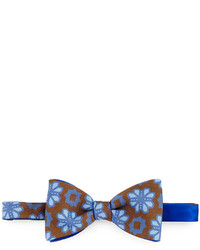 Massimo Bizzocchi Flower Medallion Bow Tie Brown