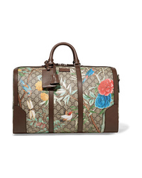 Gucci Med Printed  Canvas Weekend Bag