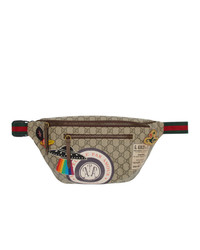 Gucci Beige Gg Supreme Courier Belt Bag