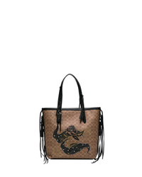Coach 34 Signature Canvas Tote With Tattoo