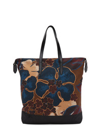 Dries Van Noten Brown Floral Tote