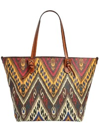 Etro Paisley Print Coated Canvas Tote Bag