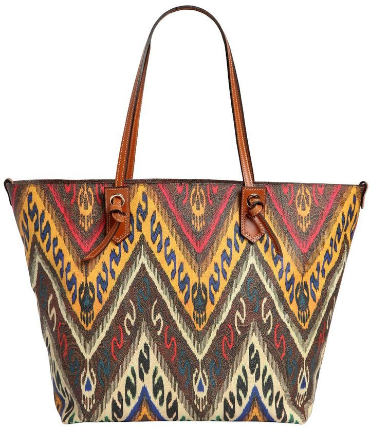 93ac6a3b86d $602, Etro Paisley Print Coated Canvas Tote Bag