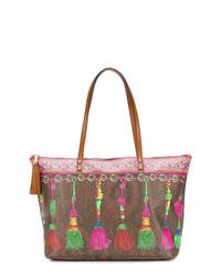 Etro Printed Tassel Tote Bag