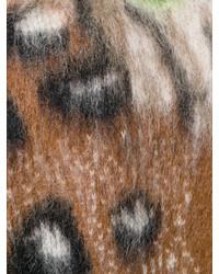 Off-White Leopard Print Cardigan