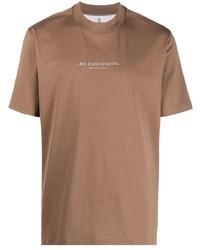 Brunello Cucinelli Slogan Crew Neck T Shirt