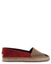 Burberry Hodgeson Check Print Espadrille Flat