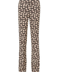 Prada Printed Silk De Chine Flared Pants