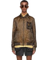 Fendi Brown Organza Ff Vertigo Jacket