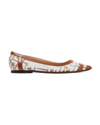 Fendi Colibri Med Pvc Point Toe Flats
