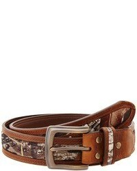 Brown Print Leather Belt