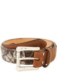 Mf Western Deer Skull Mossy Oak Camo Belt