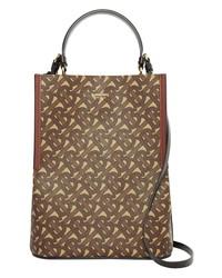 Burberry Small Peggy Tb Monogram E Canvas Bucket Bag