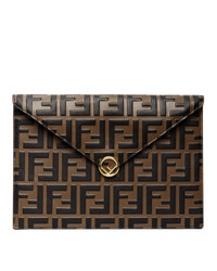 Fendi Brown And Black Envelope Pouch