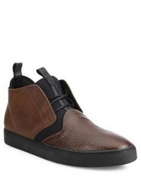 Z Zegna Cali Printed Shark Leather Chukka Boots