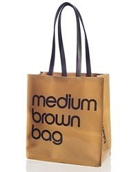 Bloomingdale s medium brown bag patent tote medium 77663