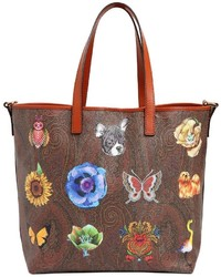 Fantasy paisley print leather tote bag medium 3748454