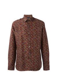 Brown Print Long Sleeve Shirt