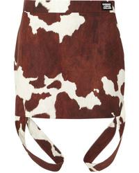 Burberry Printed Cotton And Mini Skirt