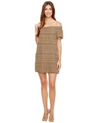 Michael Stars Michl Stars Daisy Print Double Gauze Off Shoulder Dress Dress