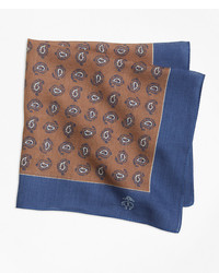 Brooks Brothers Tossed Pine Pocket Square