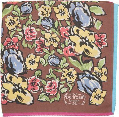 Penrose London Wild Flower Garden Print Pocket Square